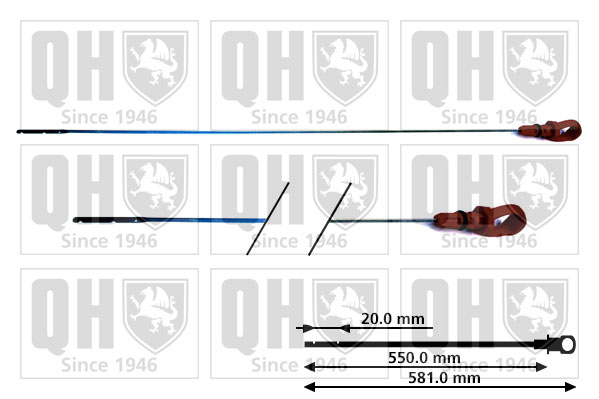 Jauge niveau d'huile QUINTON HAZELL QOD126 (X1)