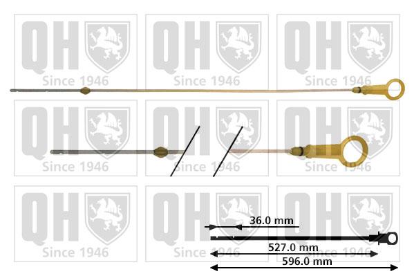 Jauge niveau d'huile QUINTON HAZELL QOD128 (X1)