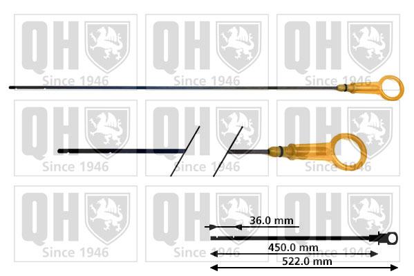 Jauge niveau d'huile QUINTON HAZELL QOD131 (X1)