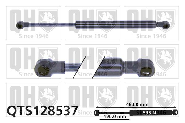 Verin de capot QUINTON HAZELL QTS128537 (X1)