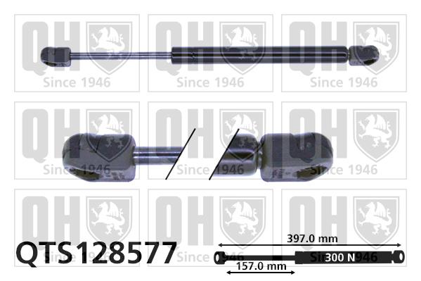 Verin de capot QUINTON HAZELL QTS128577 (X1)