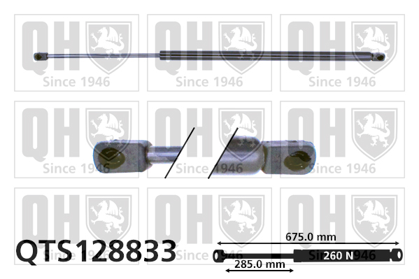 Verin de capot QUINTON HAZELL QTS128833 (X1)