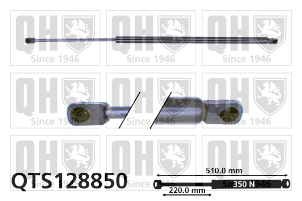 Verin de capot QUINTON HAZELL QTS128850 (X1)