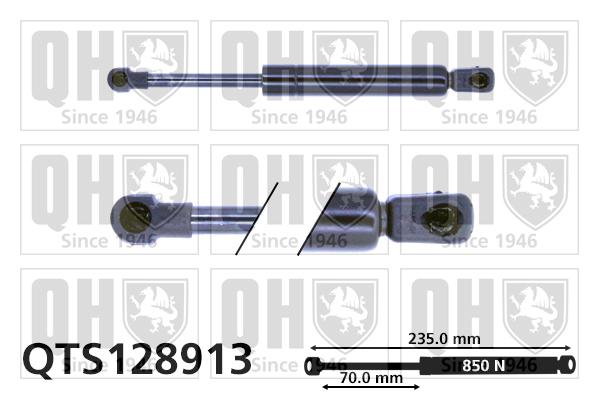 Verin de capot QUINTON HAZELL QTS128913 (X1)