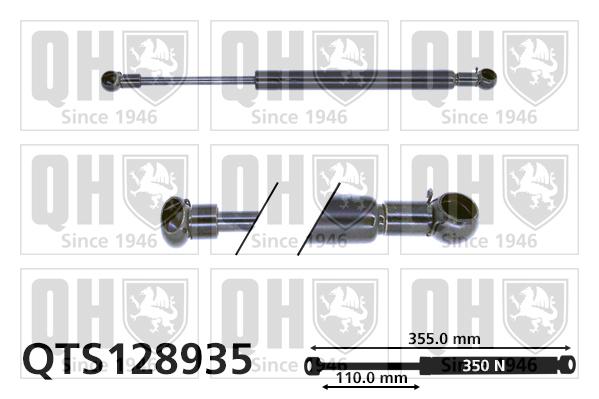 Verin de capot QUINTON HAZELL QTS128935 (X1)