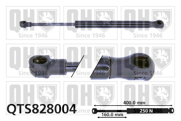 Verin de capot QUINTON HAZELL QTS828004 (X1)