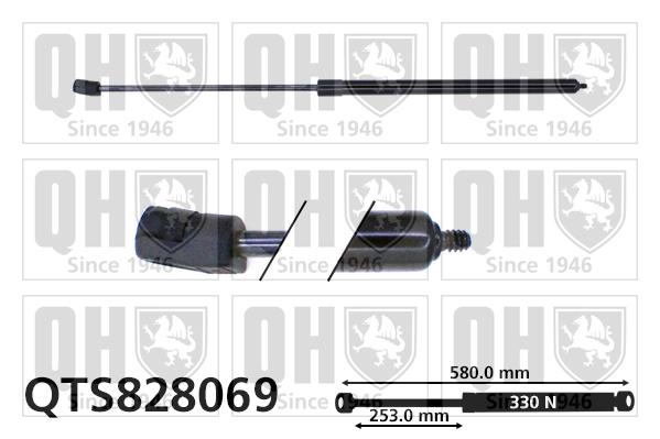 Verin de capot QUINTON HAZELL QTS828069 (X1)