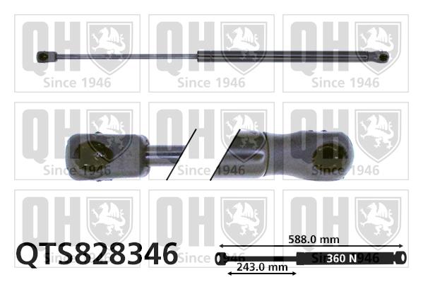 Verin de capot QUINTON HAZELL QTS828346 (X1)