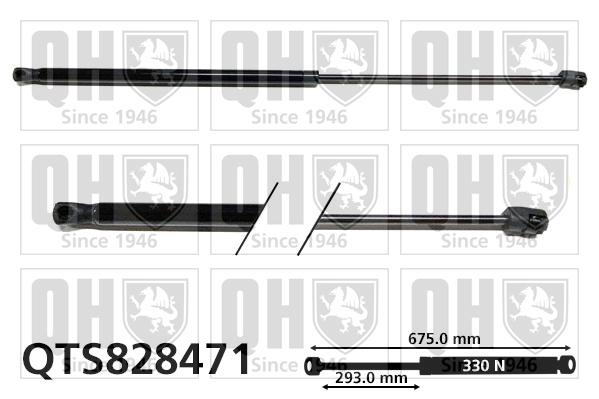 Verin de capot QUINTON HAZELL QTS828471 (X1)