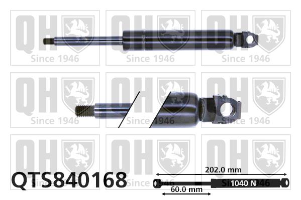 Verin de capot QUINTON HAZELL QTS840168 (X1)