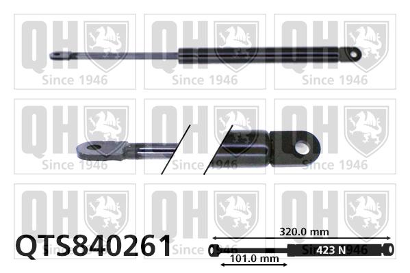 Verin de capot QUINTON HAZELL QTS840261 (X1)