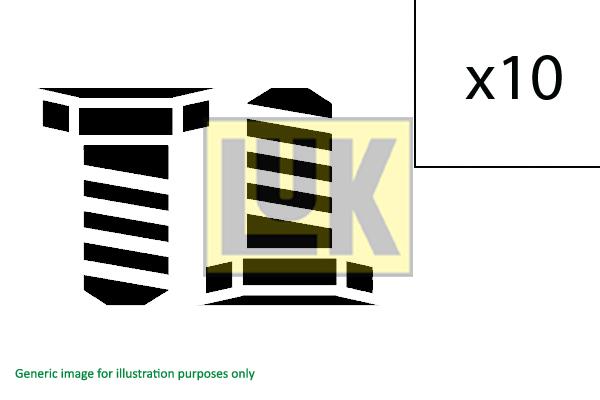 Visserie, volant moteur LuK 411 0139 10 (X1)