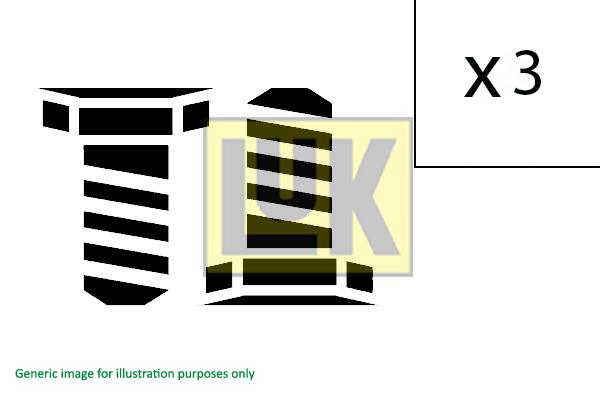 Visserie, volant moteur LuK 411 0156 11 (X1)