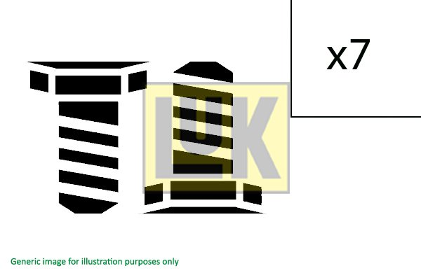 Visserie, volant moteur LuK 411 0253 10 (X1)