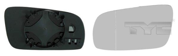 Glace de retroviseur exterieur TYC 337-0014-1 (X1)