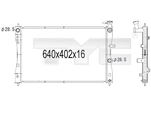 Radiateur de refroidissement TYC 723-1006 (X1)