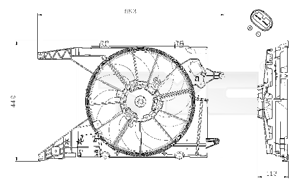 Ventilateur de radiateur TYC 828-0002 (X1)
