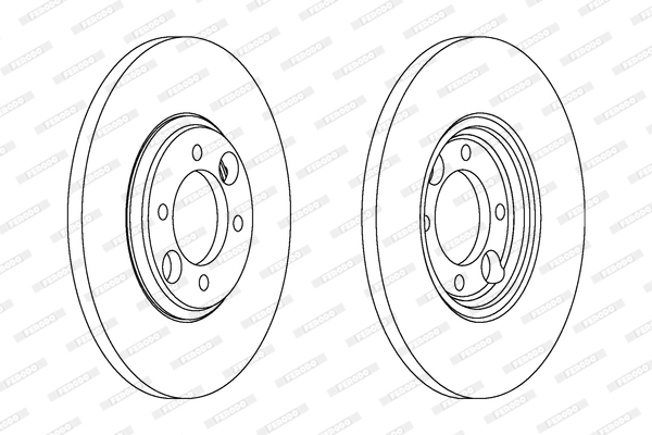 Disque de frein FERODO DDF034 (Jeu de 2)