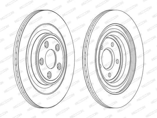 Disque de frein FERODO DDF1703C (Jeu de 2)
