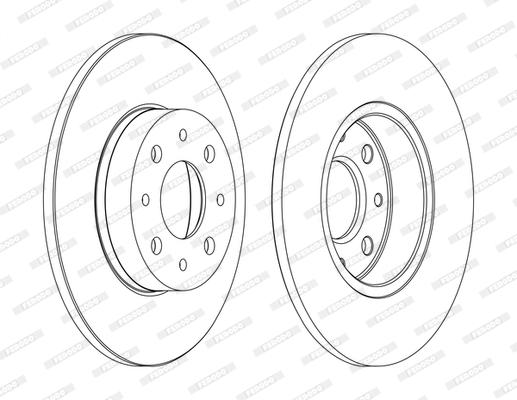 Disque de frein FERODO DDF1741C (Jeu de 2)
