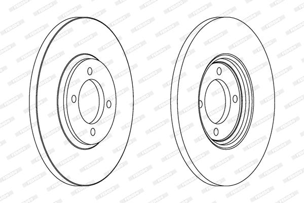 Disque de frein FERODO DDF529 (Jeu de 2)