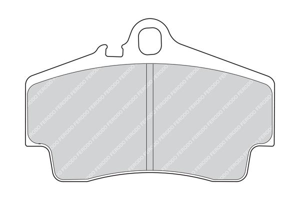 Plaquettes de frein arriere FERODO FDB1308 (Jeu de 4)