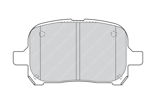 Plaquettes de frein avant FERODO FDB1437 (Jeu de 4)