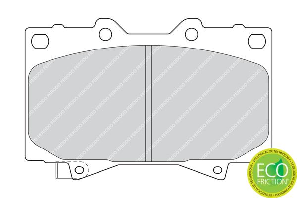 Plaquettes de frein FERODO FDB1456 (Jeu de 4)