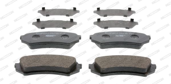 Kit de plaquettes de frein, frein à disque FERODO FDB1457 (Jeu de 4)