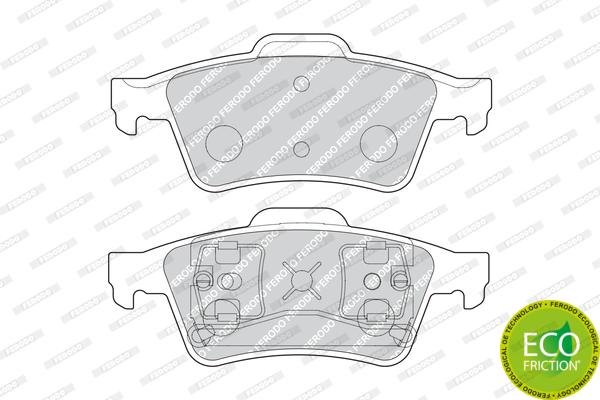 Kit de plaquettes de frein, frein à disque FERODO FDB1540 (Jeu de 4)