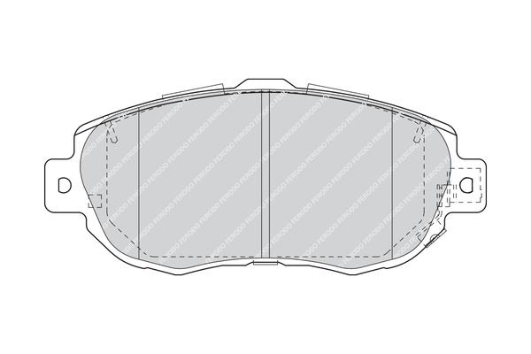 Plaquettes de frein avant FERODO FDB1564 (Jeu de 4)
