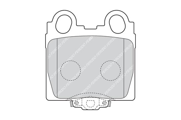 Kit de plaquettes de frein, frein à disque FERODO FDB1610 (Jeu de 4)