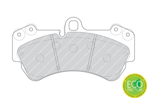 Plaquettes de frein avant FERODO FDB1625 (Jeu de 4)