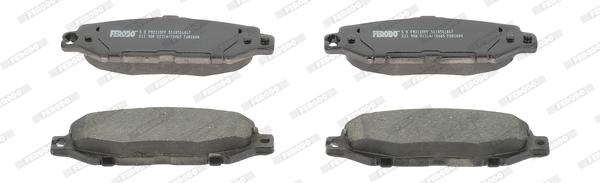 Kit de plaquettes de frein, frein à disque FERODO FDB1684 (Jeu de 4)