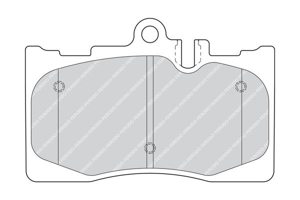 Plaquettes de frein avant FERODO FDB1688 (Jeu de 4)
