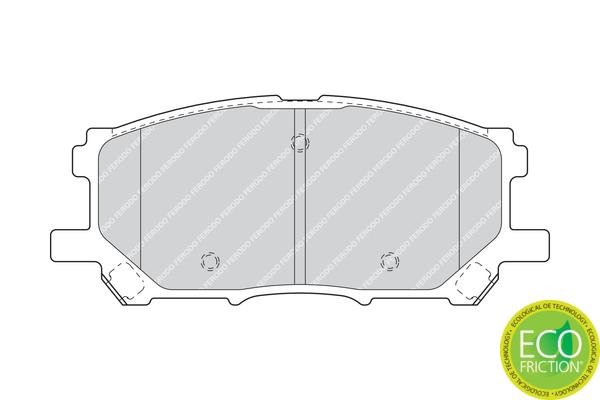 Plaquettes de frein FERODO FDB1715 (Jeu de 4)