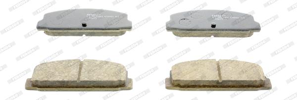 Kit de plaquettes de frein, frein à disque FERODO FDB1731 (Jeu de 4)