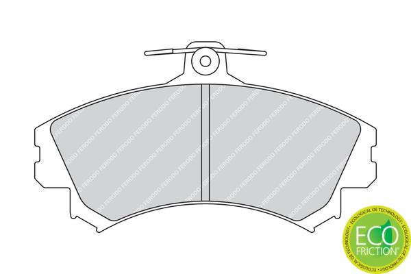 Plaquettes de frein avant FERODO FDB1738 (Jeu de 4)