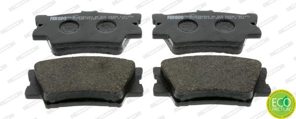 Kit de plaquettes de frein, frein à disque FERODO FDB1892 (Jeu de 4)