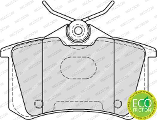 Plaquettes de frein arriere FERODO FDB4178 (Jeu de 4)