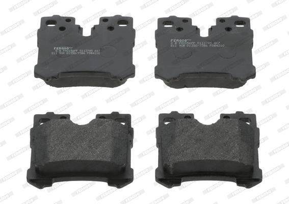 Kit de plaquettes de frein, frein à disque FERODO FDB4210 (Jeu de 4)