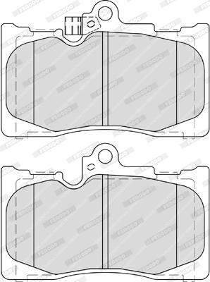 Plaquettes de frein avant FERODO FDB4216 (Jeu de 4)