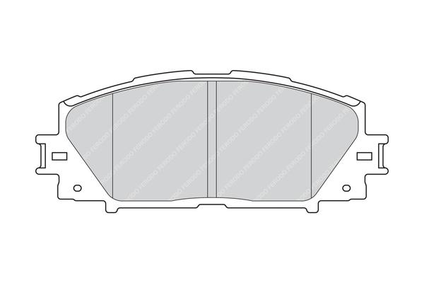 Plaquettes de frein avant FERODO FDB4310 (Jeu de 4)