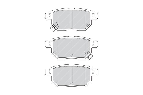 Kit de plaquettes de frein, frein à disque FERODO FDB4335 (Jeu de 4)