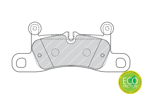 Kit de plaquettes de frein, frein à disque FERODO FDB4424 (Jeu de 4)