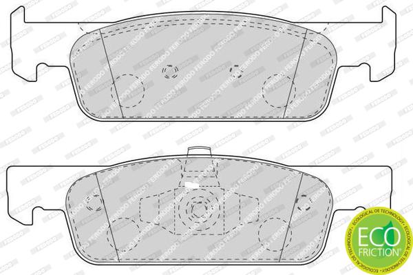 Plaquettes de frein avant FERODO FDB4615 (Jeu de 4)