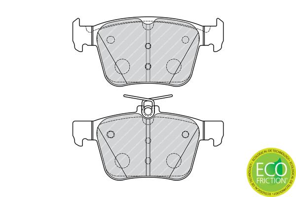 Plaquettes de frein arriere FERODO FDB4697 (Jeu de 4)
