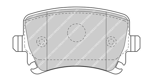 Plaquettes de frein FERODO FDB5107 (Jeu de 4)
