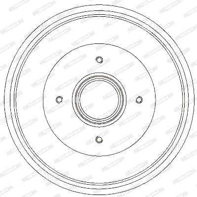 Tambour de frein arriere (X1)