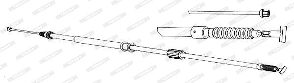Cable de frein à main FERODO FHB431365 (X1)